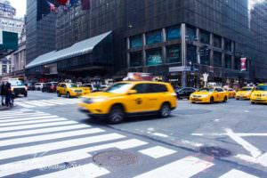 Taxis fahren in New York