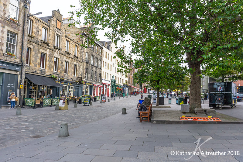 Grassmarket in Edinburgh, Schottland