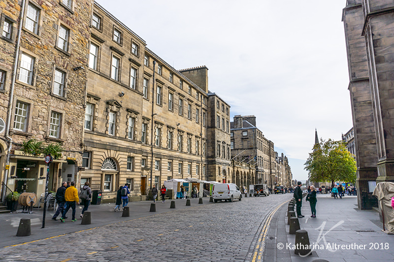 Royal Mile in Edinburgh, Schottland