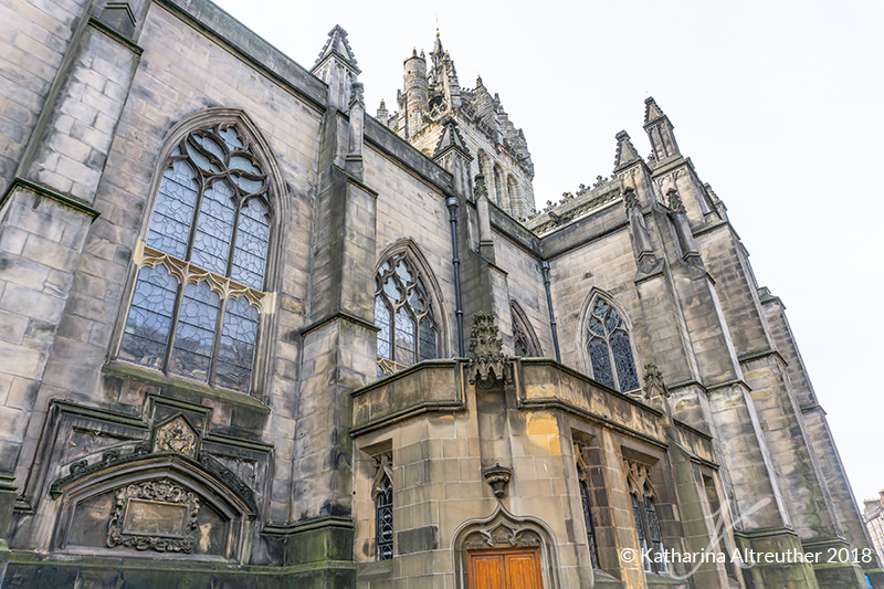 Die St. Giles' Cathedral in Edinburgh, Schottland