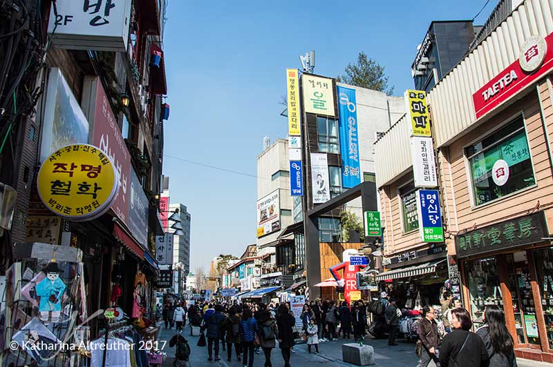 Insadong Shoppingstreet in Seoul