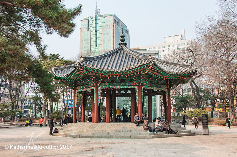 Tapgol Park in Seoul