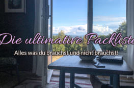Die ultimative Packliste