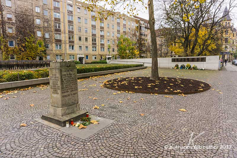 Das Holocaust Memorial Denkmal in Leipzig