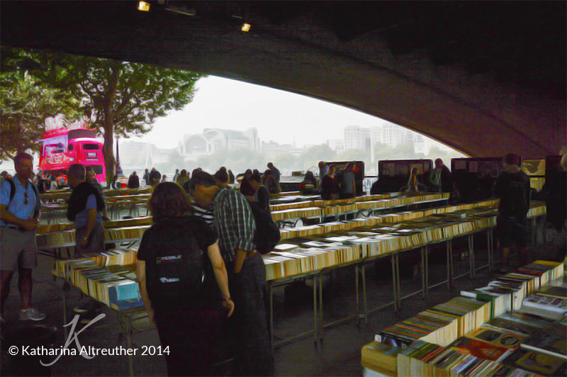 Bücherflohmarkt in Southbank