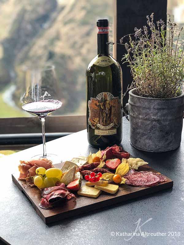 Weinverkostung in der Vinnova