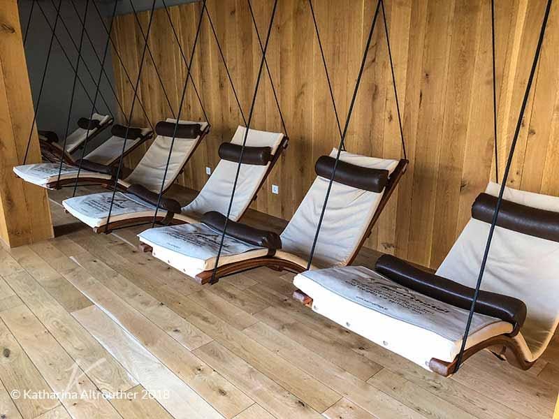 Ruhebereich im Sporthotel Silvretta Montafon