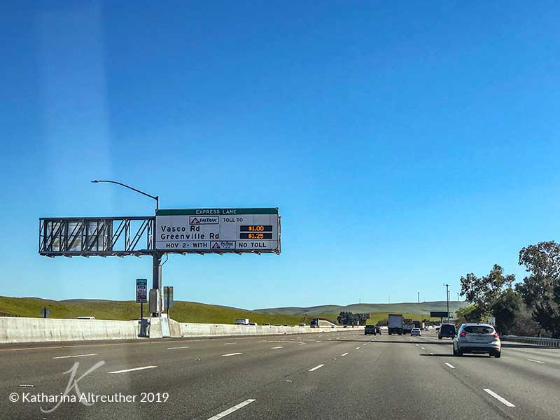 Express Lane auf den Highways der USA
