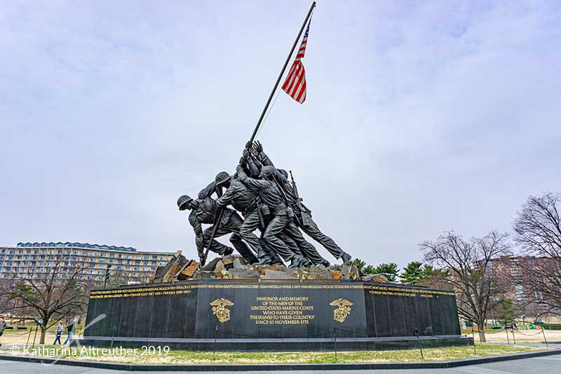 U.S. Marine Corps War Memorial in Arlington