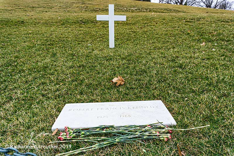 "Grab von Edward ""Ted"" Kennedy auf dem Nationalfriedhof Arlington in Washington D.C."